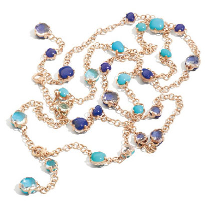 Cynthia Lynn ST THOMAS STONE Blue Aquamarine Gemstone Beaded Stretch Ring