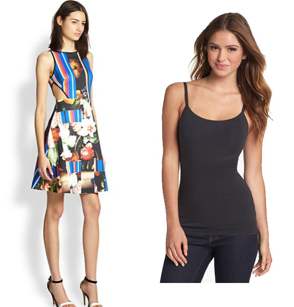 Side Cut out dress, spanx camisole