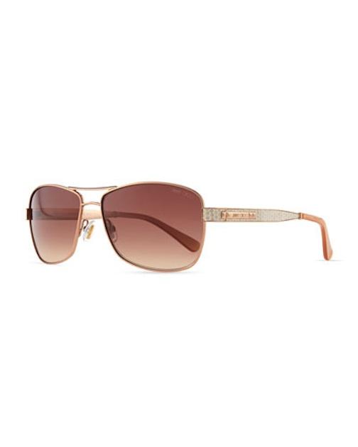 Jimmy Choo - Cris Metal Sunglasses, red $385 - Neiman Marcus