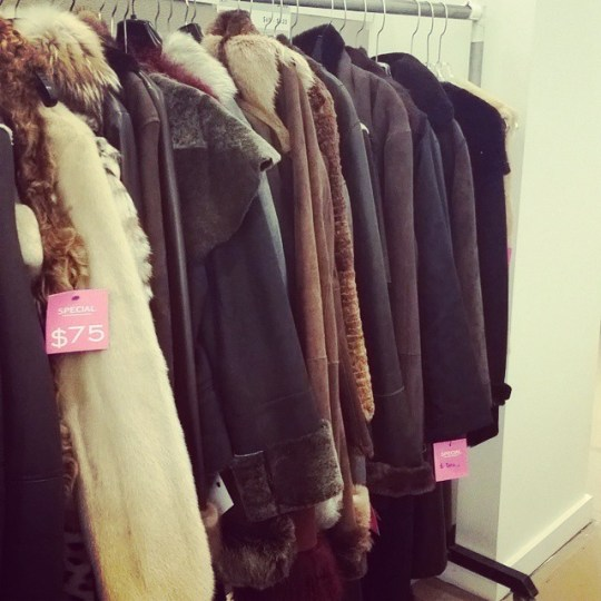 Lafayette 148 New York shearling, leather and fur