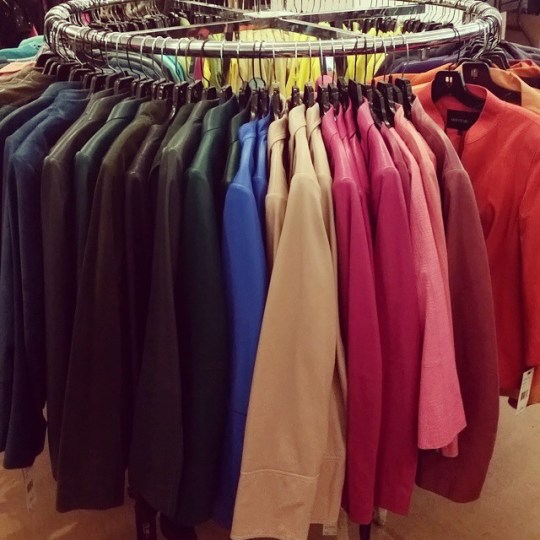 Lafayette 148 New York leather jackets in every shade of the spectrum...for $200!