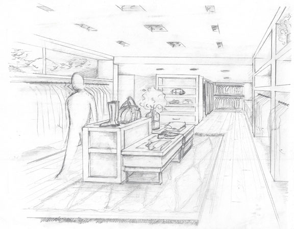 Billy Reid Shop Sketch