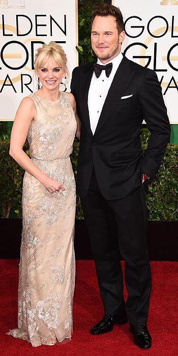 Chris Pratt and Anna Faris in Reem Acra