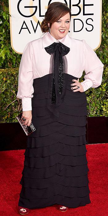 Melissa McCarthy Golden Globes 2015 DIY dress