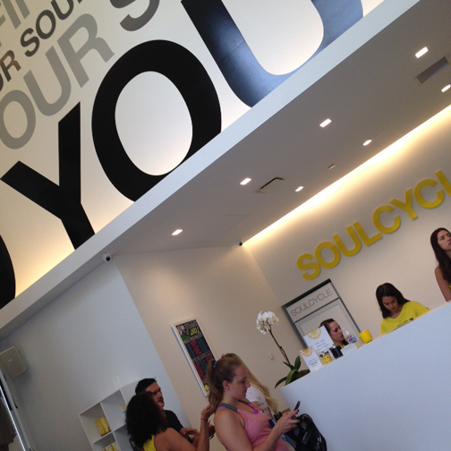 SoulCycle Loop, Highe cielings, Front desk