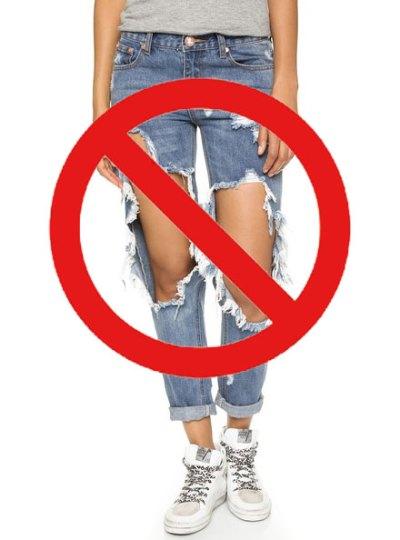 One-teaspoon torn denim Jeans