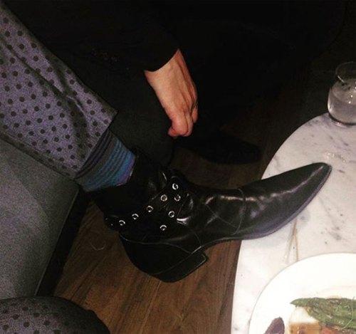 Perry Farrell, boots, Saint Laurent, rock & Rool Boots