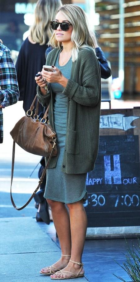 Lauren Conrad Tshirt Dress and Cardigan