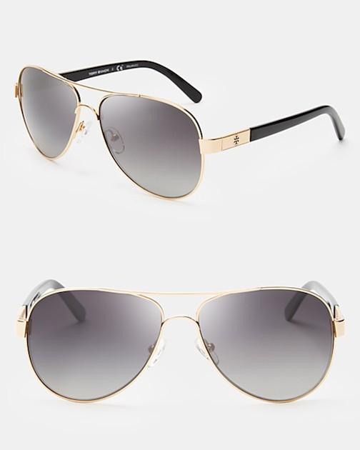 Aviator Sunglasses, gold frames