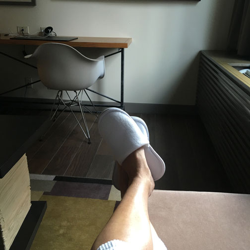 AC-Hotel-Chicago-Relax-Kick-Back-Slippers-Feet-Up-Bed