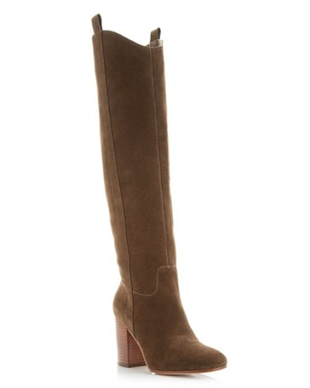 Brown Suede, Via Spiga, High Heel Boots