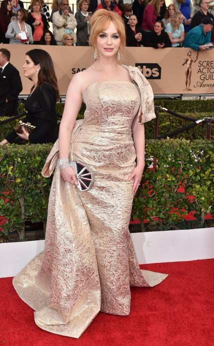 Christina Hendricks SAGs 2016 Red Carpet Christian Siriano