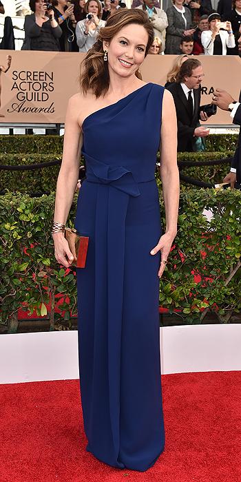 Diane Lane in Navy Angel Sanchez Gown SAGs 2016