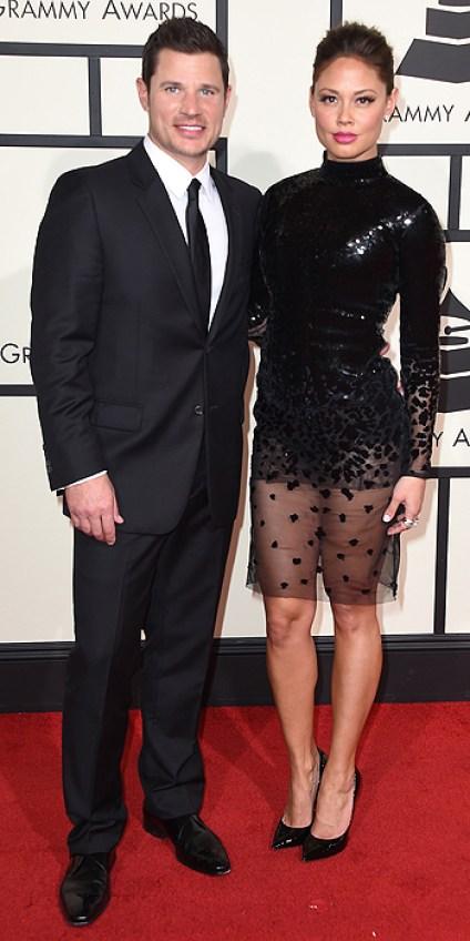 Nick Lachey and Vanessa Lachey Michael Cinco Black dress