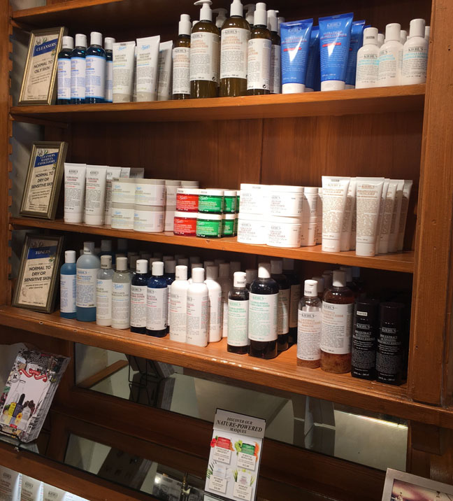 kiehls-since-1981-store-shelves-with-products