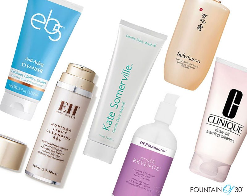best facial cleansers for aging skin fountainof30
