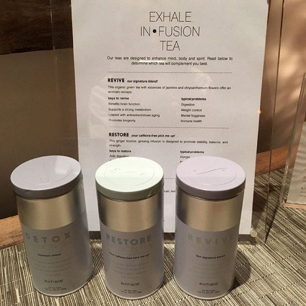 exhale In-fusion teas at exhale spa gold coast
