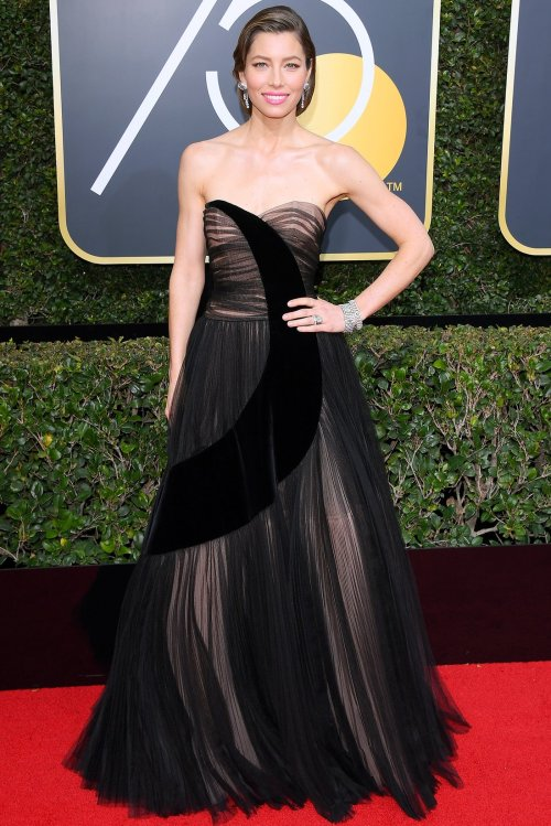 golden globes 2018 fashion best and worst dressed celebrities Jessica Biel