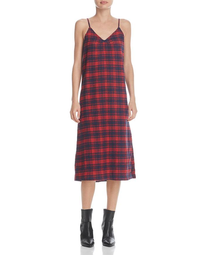 Mandy Moore look for less plaiud slip dress