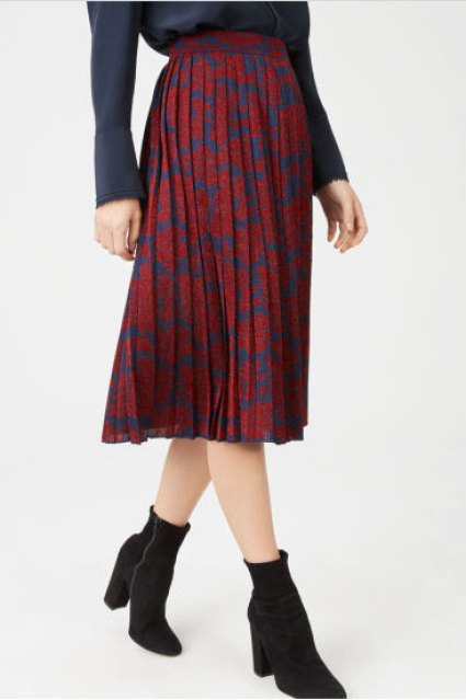 Club Monaco Nila Skirt Olivia Palermo Mixed Prints Look for Less