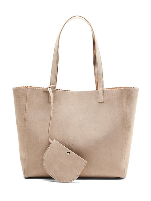 Jessica Alba look for less oversize tote bag