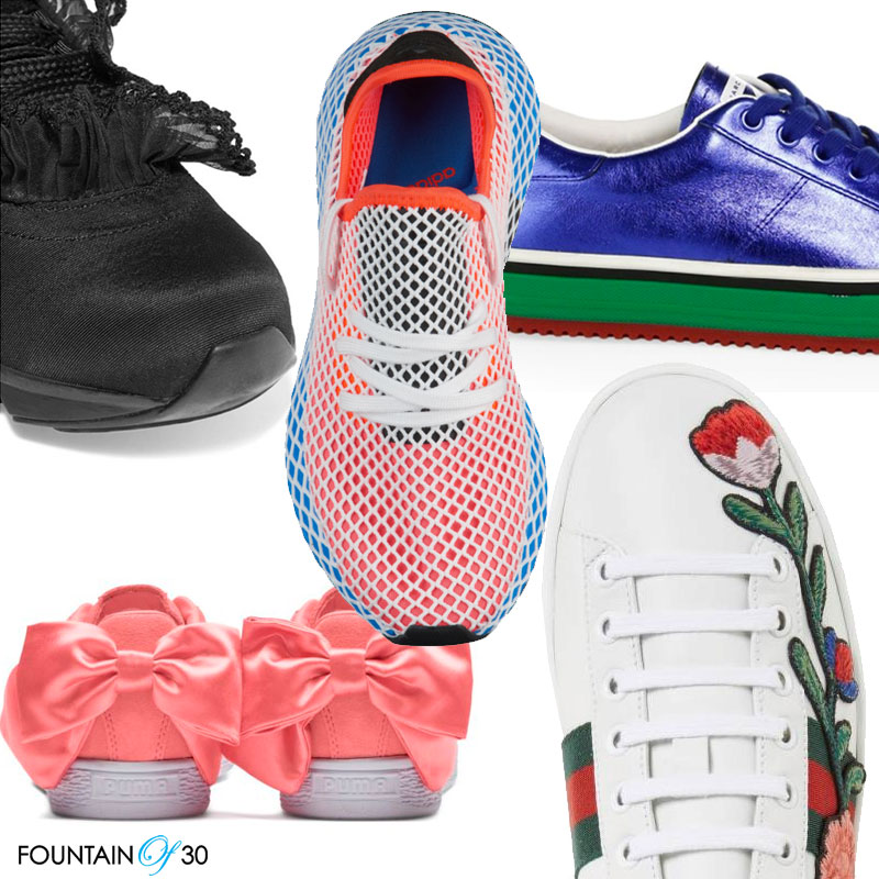stylish sneakers for women over 40