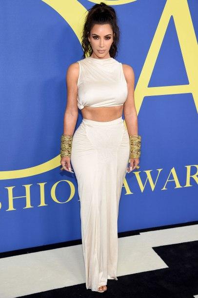 2018 CFDA Awards Kim Kardashian in Rick Owens midriff