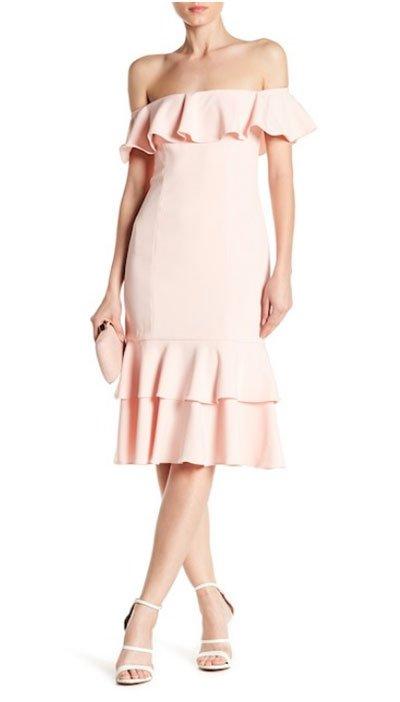 Penelope Cruz ruffle dress jay godfrey off the shoulder