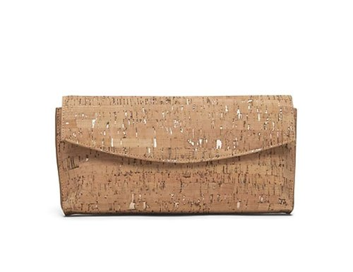 Penelope Cruz ruffle dress cork handbag