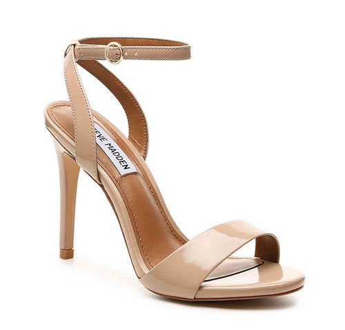 Penelope Cruz ruffle dress nude heel sandal