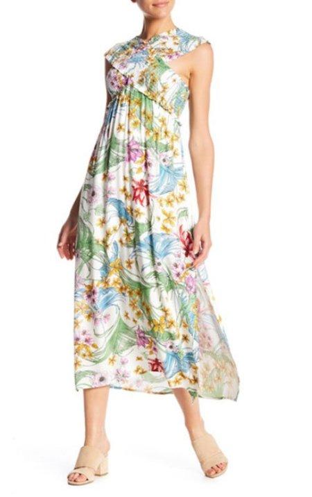sarah jessica parker flirty floral dress look for less Lush