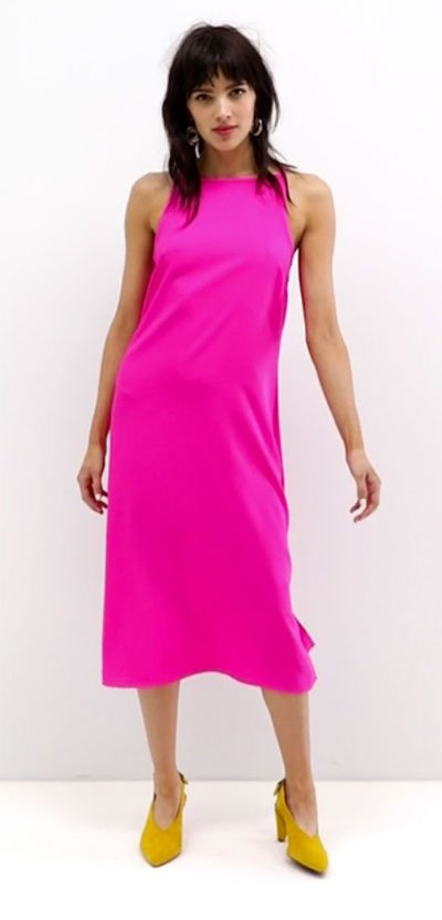 Victoria Beckham Pink Dress Look for Less ASOS casual