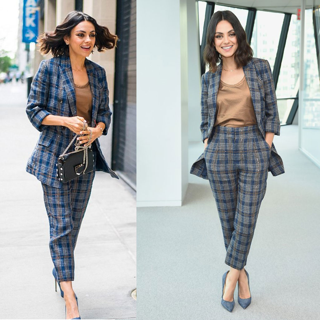 Mila Kunis suiting look for less