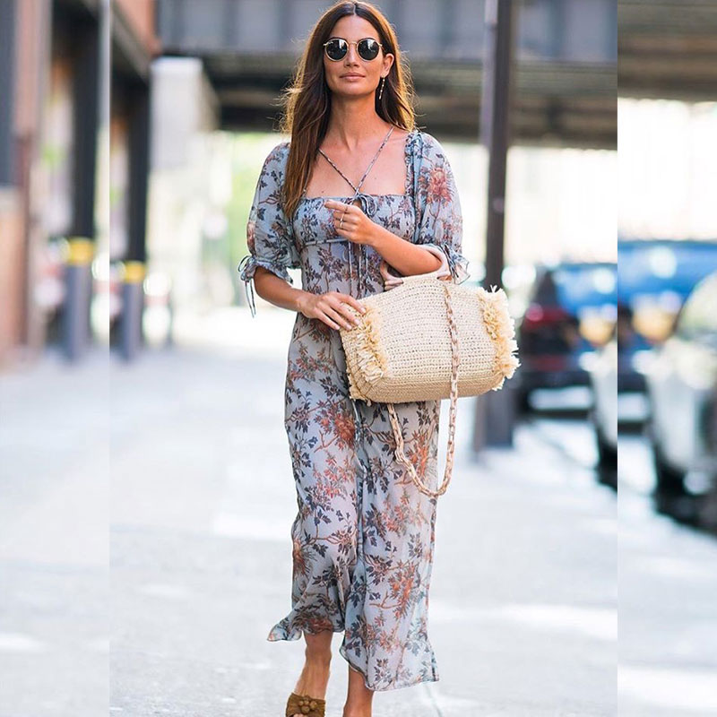 Lily Aldridge maxi dress look for less