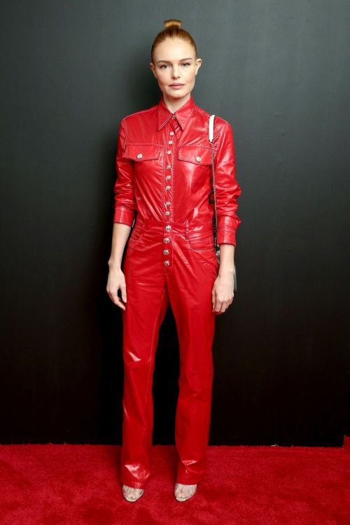 celebrities-in-the-front-row-Kate Bosworth red jumpsuit