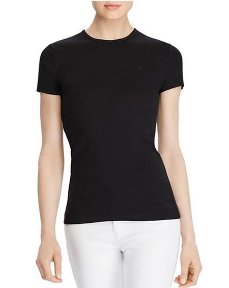 Lucy Hale look for less black tee