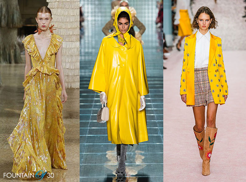 marigold yellow NYFE Spring '19 Color of The Season