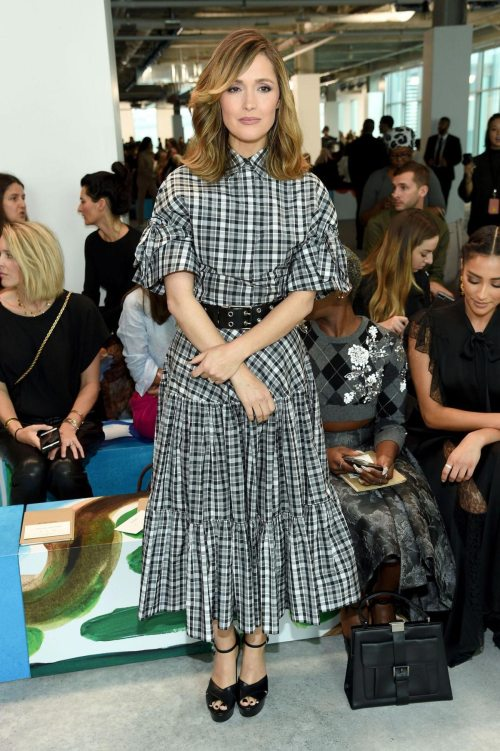 celebrities-in-the-front-row-Rose Byrne at Michael Kors