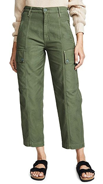 Spring '19 Trends You Can Buy Now green cropped cargo pants