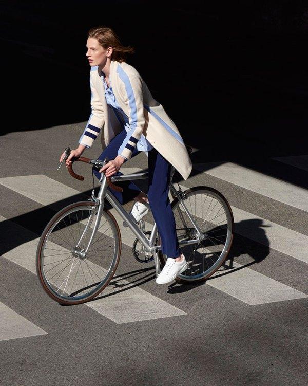 Bogner Sample Sale Chicago women on bike