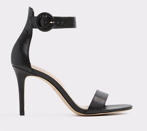 Kristen Bell celebrity look for less black Ankle Strap Sandal