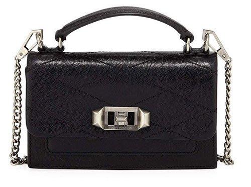 Kristen Bell celebrity look for less Black crossbody Bag
