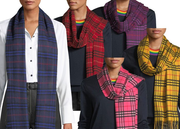 adjust your wardtobe model in 5 colors Burberry plaid sacrves