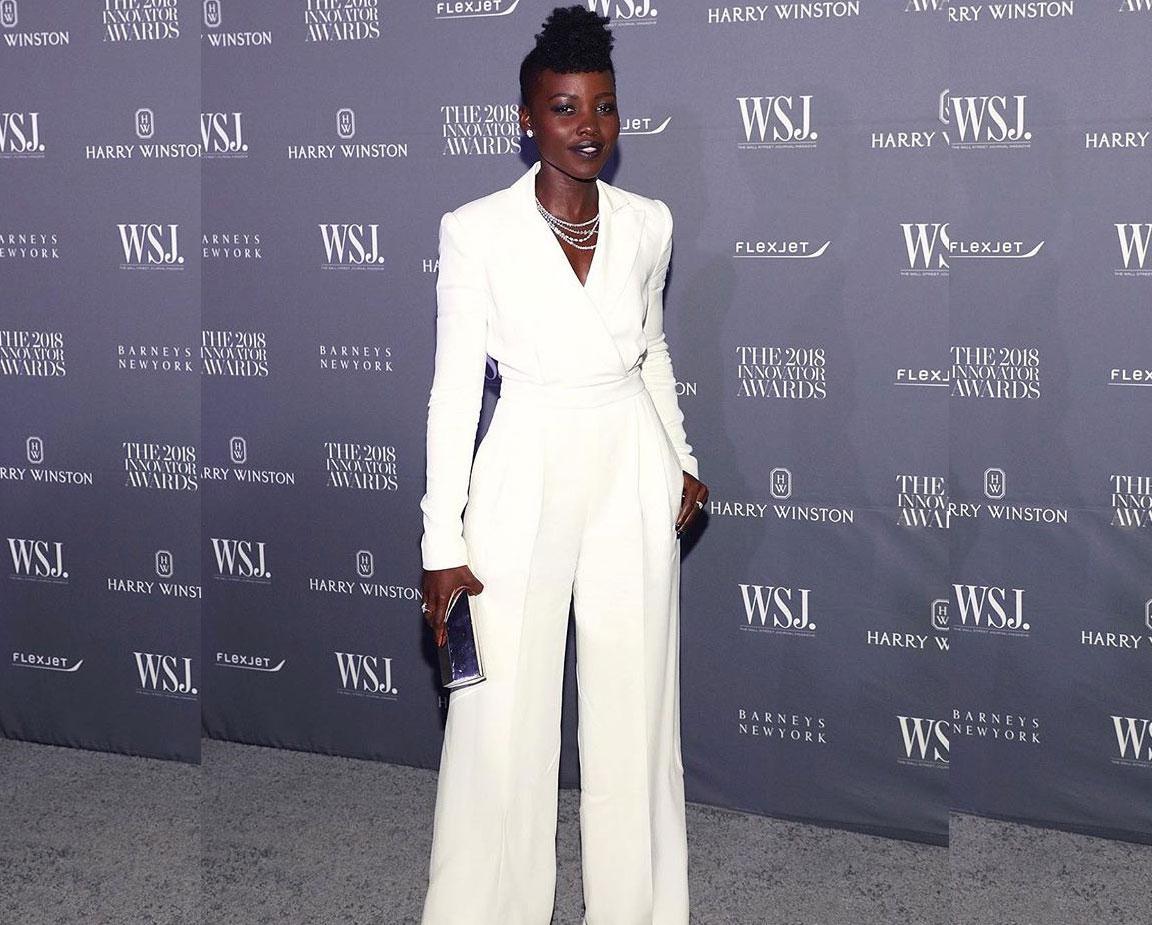 Lupita Nyong'o White Jumpsuit