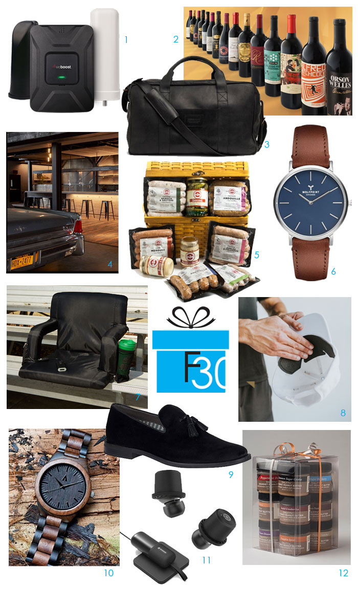 holiday gift guide for men 12 itmes gadgets, food gifts, watches, membeships