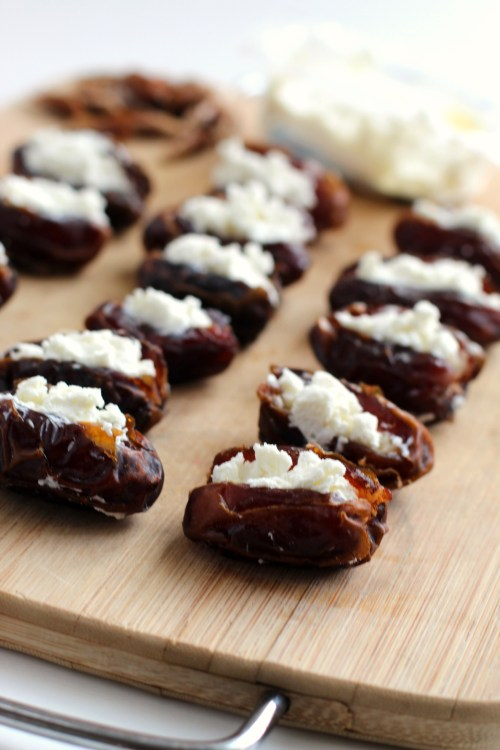 Bacon Wrapped Dates With Goat Cheese dates stuffed with goat cheese