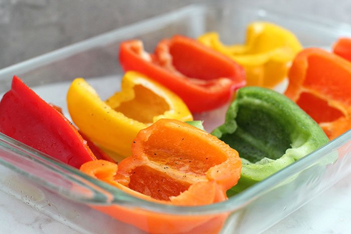 red yellow orange and green peppers