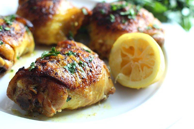 Turmeric Lemon Skillet Chicken recipe