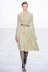 Asymmetric Off Shoulder cream longsleeve sweater and full skirt
