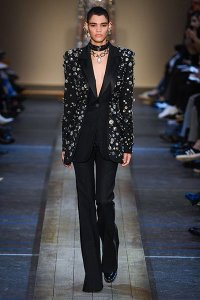 fall 2019 fashion trend tuxedo Alexander McQueen crystal embellihed